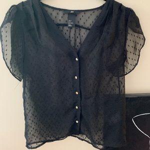 HM button down blouse